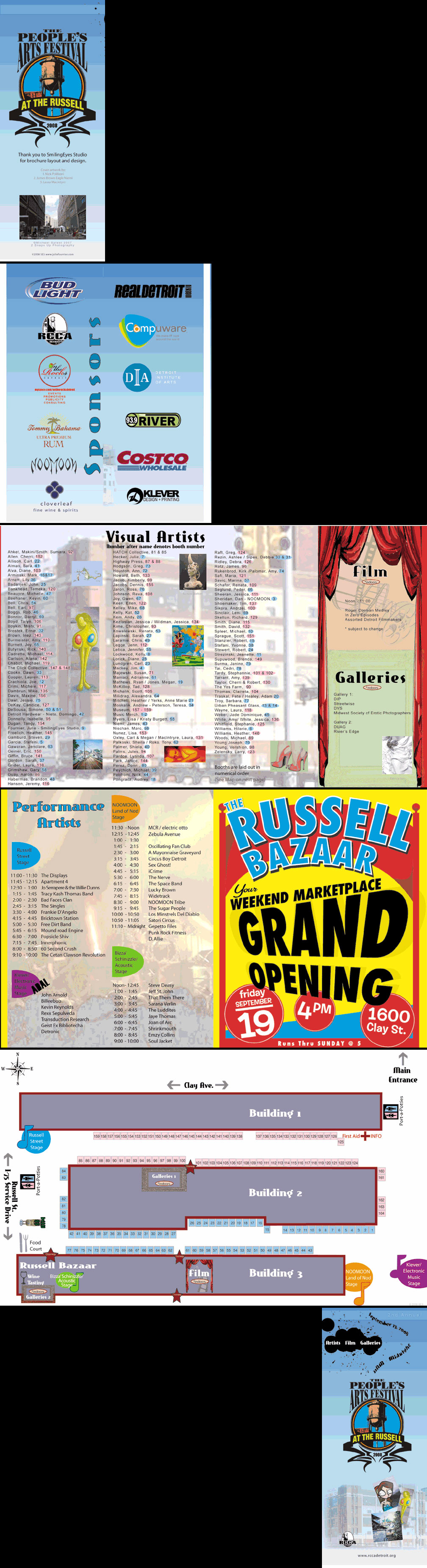 People's Art Festival Brochure