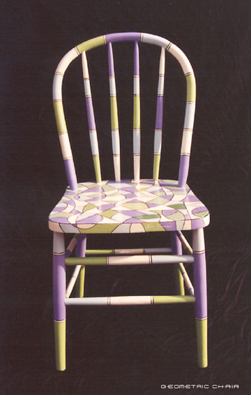 geometric chair