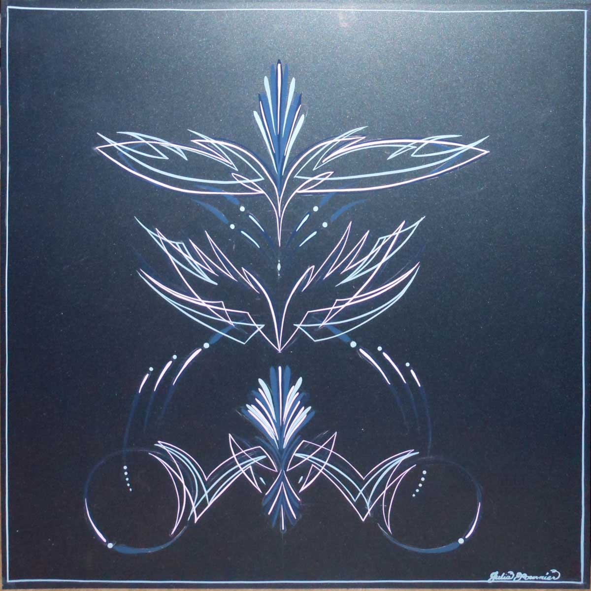 Pinstriped panel by Julie Fournier
