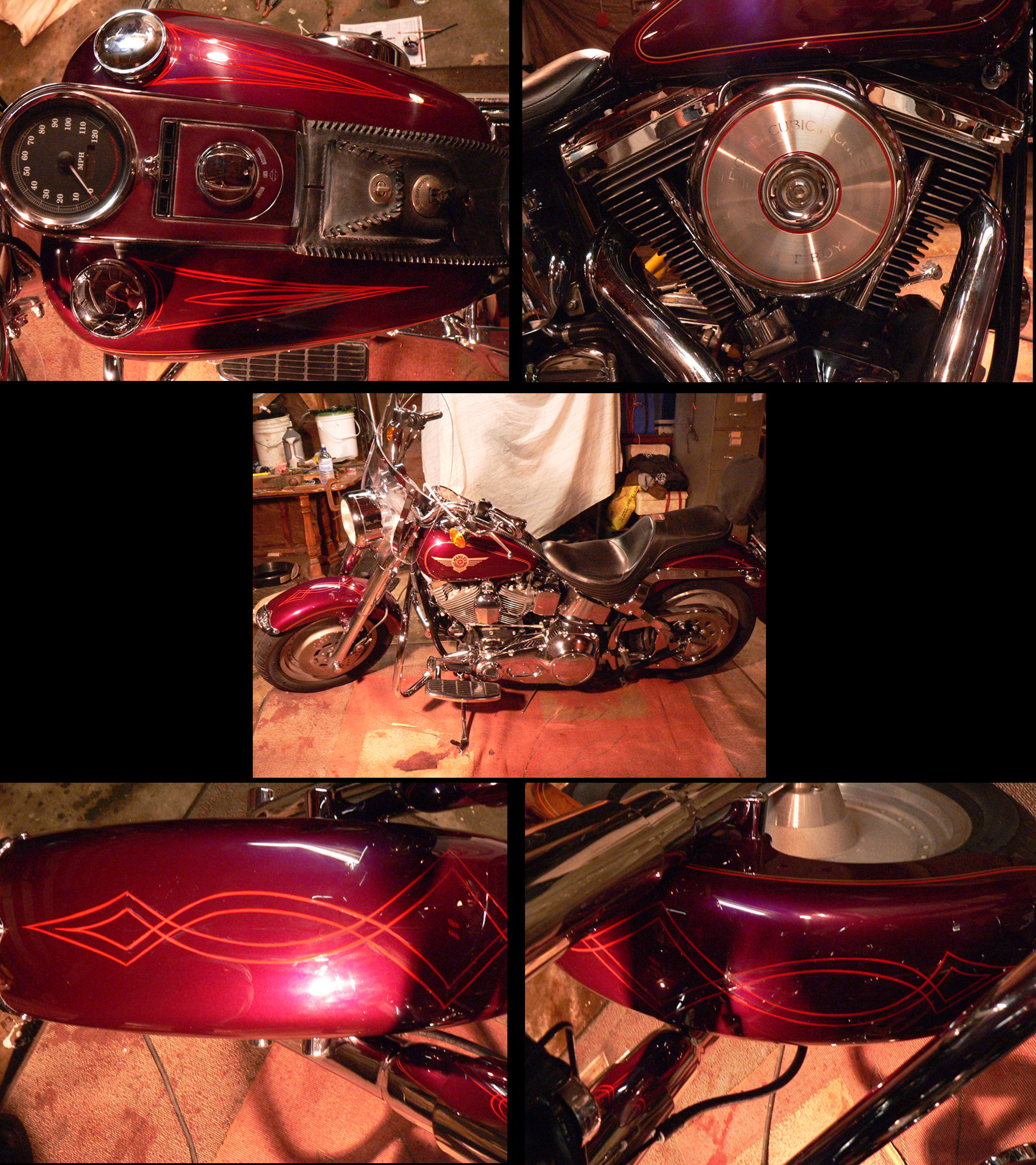 Pinstripes by Julie Fournier on Motorcycle