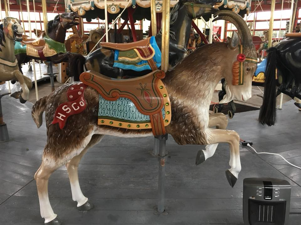 Restored carousel animal, a goat, from The Henry Ford Museum, Greenfield Village, Dearborn, MI