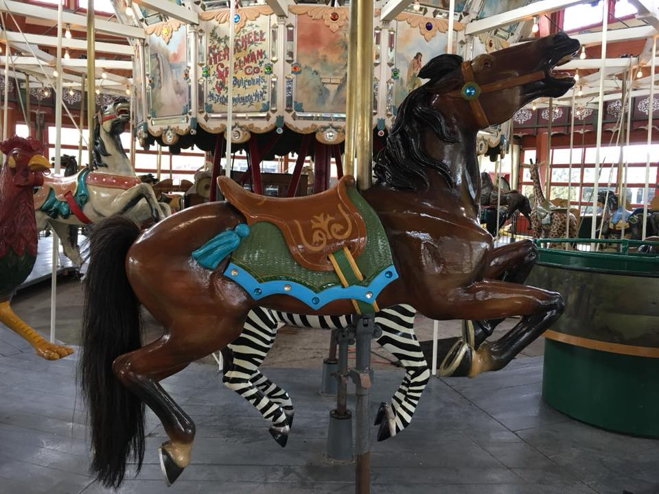 Restored carousel animal, a horse, from The Henry Ford Museum, Greenfield Village, Dearborn, MI