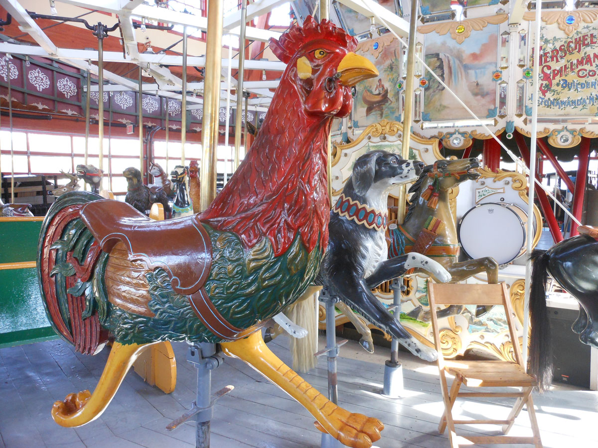 Restored carousel Rooster from The Henry Ford Museum, Greenfield Village, Dearborn, MI