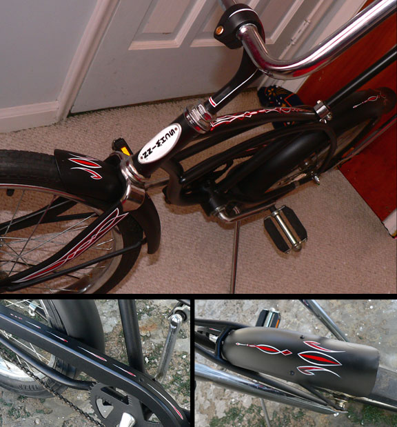 Pinstripes by Julie Fournier on a Schwinn Bike