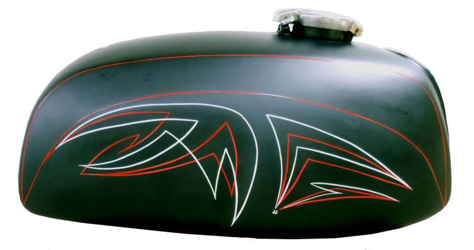 Pinstripes by Julie Fournier on motorcycle tank