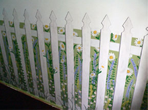 Hall Fence and flowers Mural