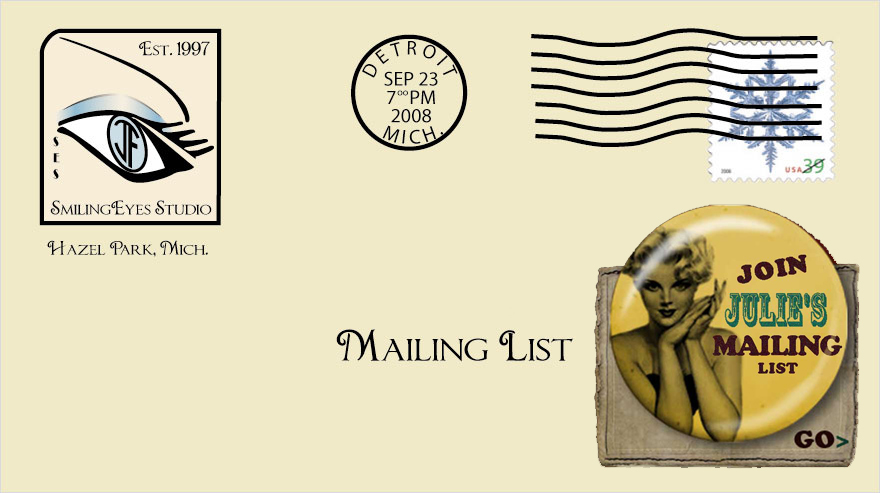 Join Mailing List Envelope